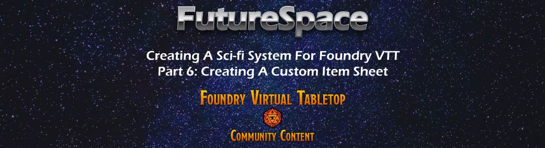 how to create a new custom item sheet for foundry vtt